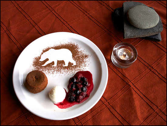 Dessert created by Chef Kaleigh Allen of Bear Claw Lodge. (Amanda Castleman Photo)