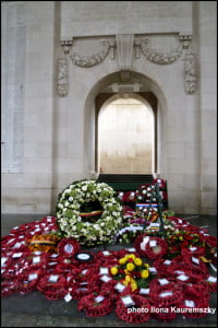 A memorial at Menin Gate in Ieper where the names of lost soldiers are chiselled in stone. (Photo: Ilona Kauremszky/Vacay.ca)