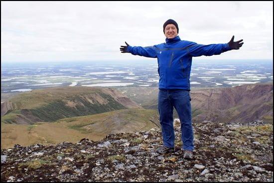 Ron James conquers the Yukon. (Photo courtesy of Ron James)