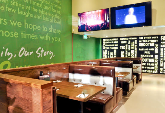 Wahlburgers Toronto Booths