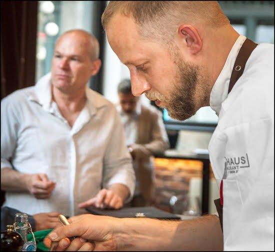 Chef Stefan Hartmann and Uwe Boll