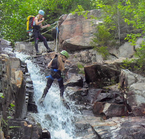 via-ferrata-vallee-bras-du-nord-quebec-waterfall