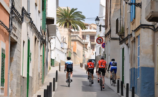 cycling-through-streets-of-mallorca