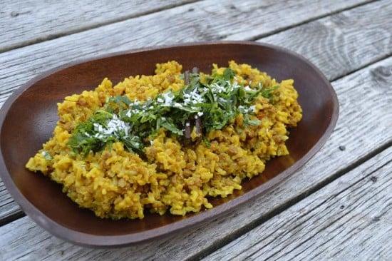 South Indian Veggie Biryani Dish