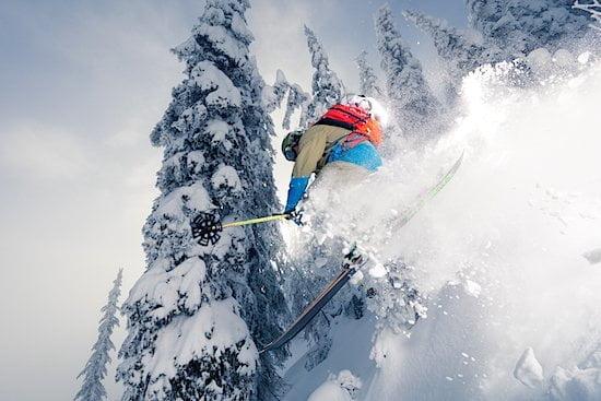 Expert skier Kootenay Rockies