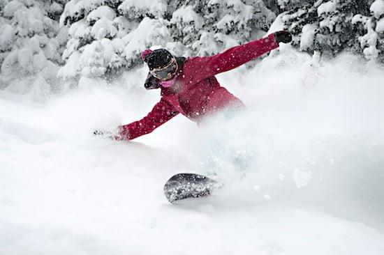 Sun Peaks - Powder Snowboarding