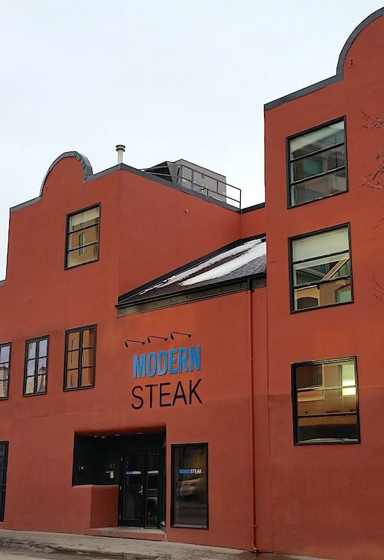 Modern Steak exterior - Calgary