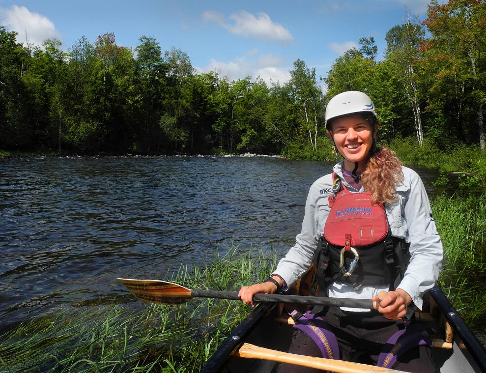Instructor Stefani Van Wijk says she is happiest when she is in her canoe on the river. (Scott Whalen/Vacay.ca)