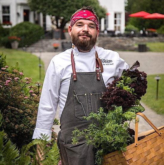 Alex Haun chef at Kingsbrae Gardens - VACAY