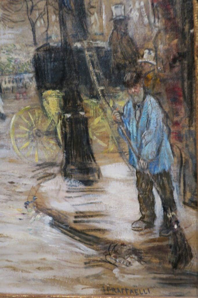 AGO street sweeper Place de la Trinite by Jean-Francois Raffaelli