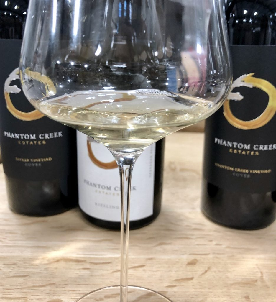 Phantom Creek has purchased six vineyards in the South Okanagan Valley and is producing premium wines, including Riesling. (Adrian Brijbassi/Vacay.ca)