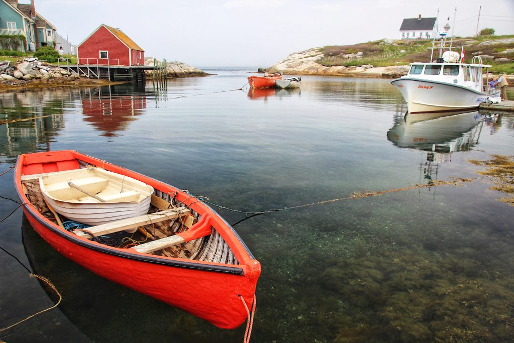 Boats near Peggy's Cove, NS
