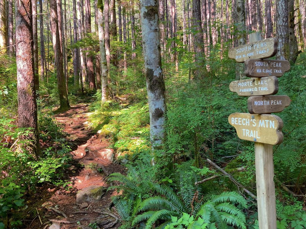 Hiking trails-the trailhead-Quadra-island