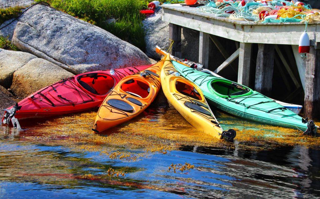 Kayaks on Nova Scotia South Shore