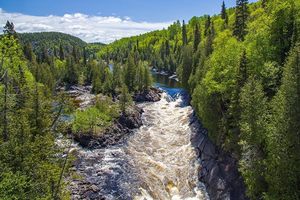 White River Suspension Bridge, Pukaskwa National Park Ontario