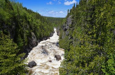 White River Suspension Bridge, Pukaskwa National Park Ontario