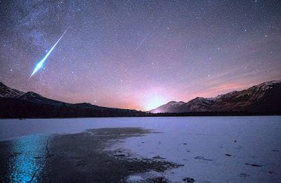 Meteor shower in Jasper National Park CREDIT Jack Fusco