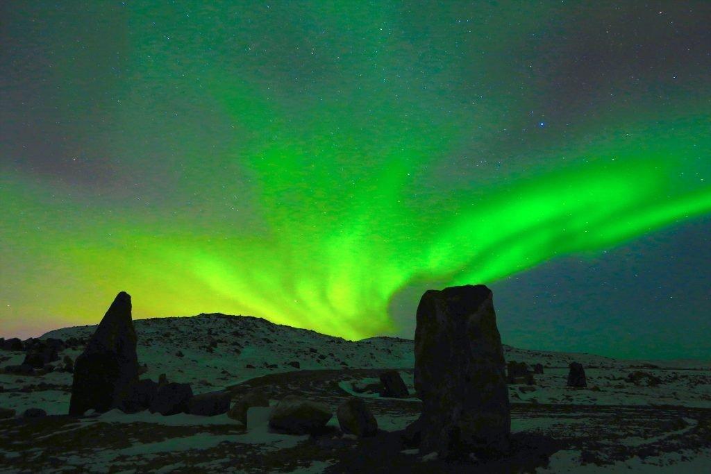 Aurora borealis in Iqaluit