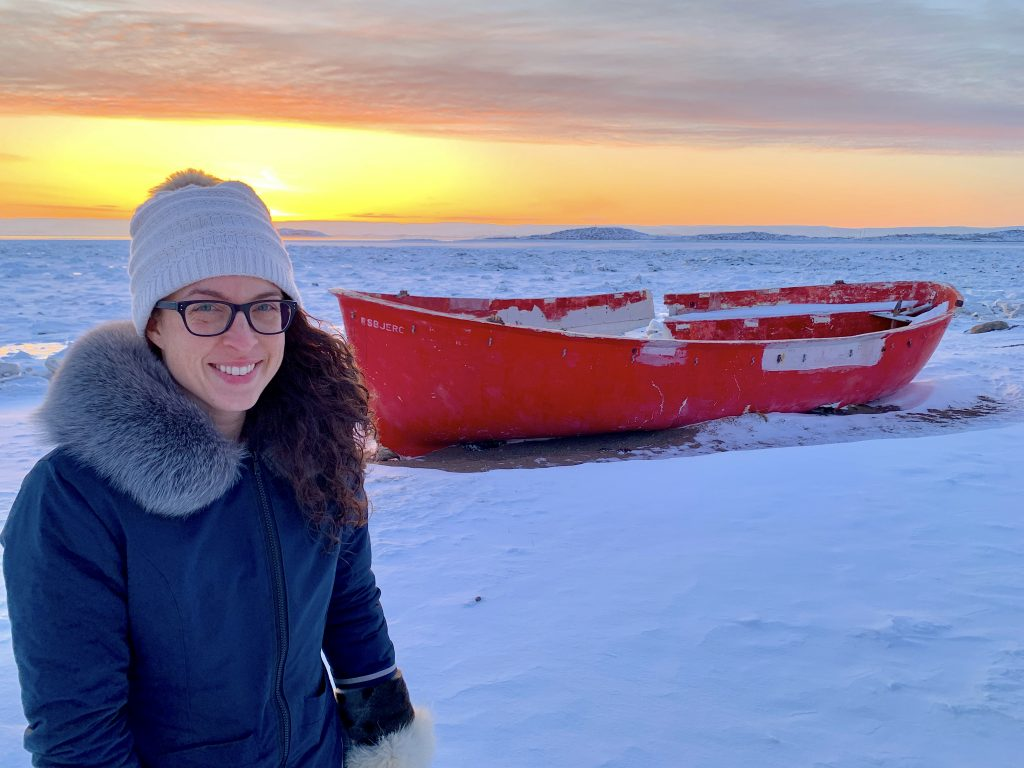 Inukpak Outfitting Martine Dupont at Apex beach used in Iqaluit