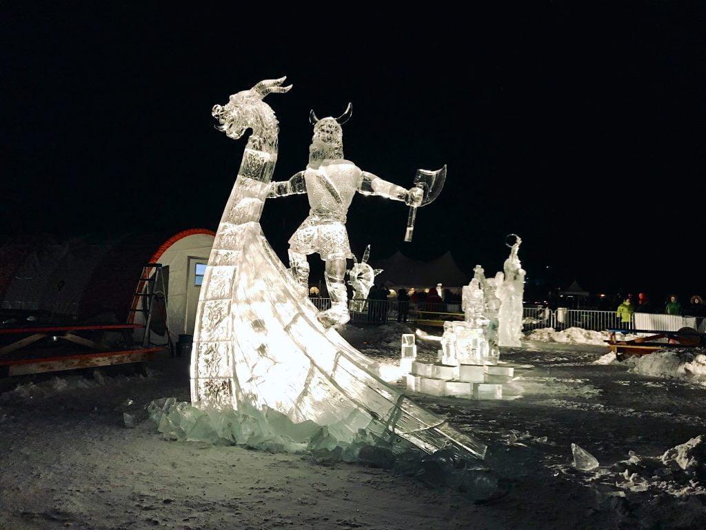 Long John Jamboree 2018 ice sculptures CREDIT Jennifer Bain