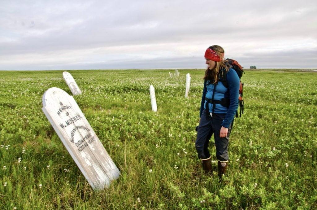 Gravestones at Herschel Island Government of Yukon