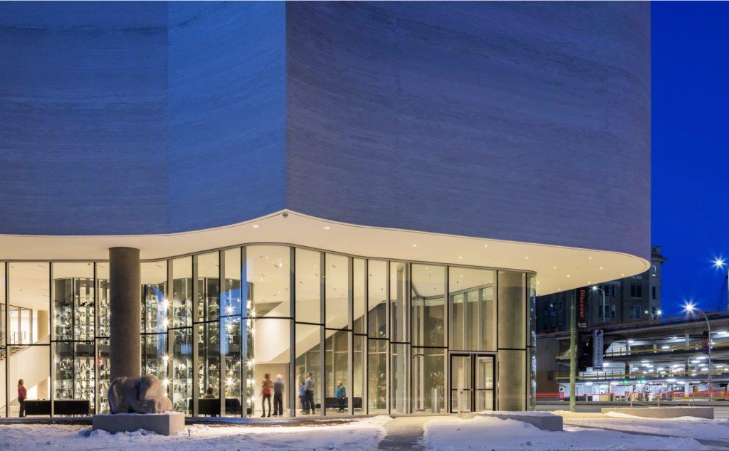 qamajuq art centre at dusk