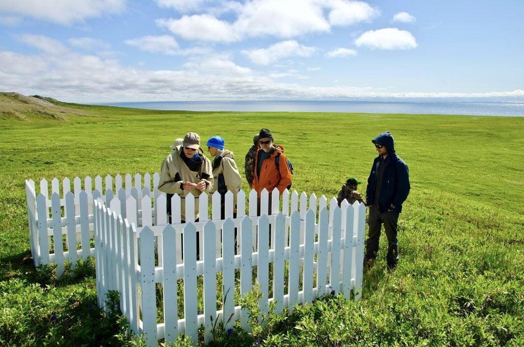 RCMP gravesite at Herschel Island Yukon